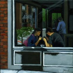"Figurative painting - ""Rendezvous"""