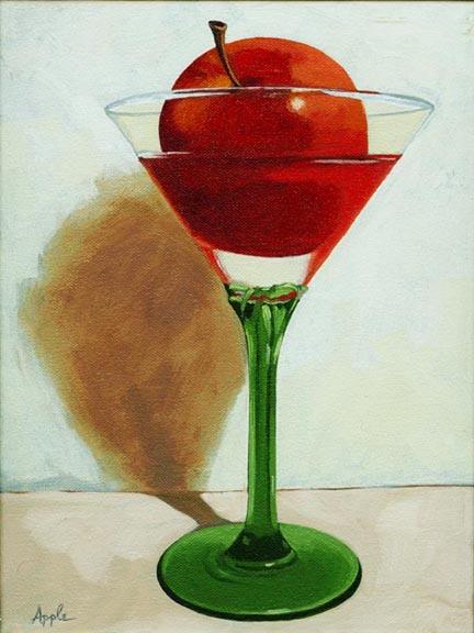 The Appletini - still life glass & fruit