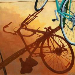 Aqua Bicycle - city shadows