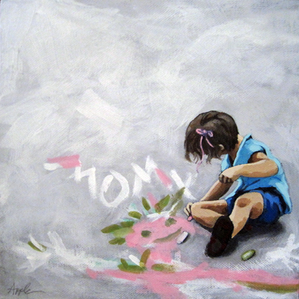 Little Girl Artist of the Future - figurative art