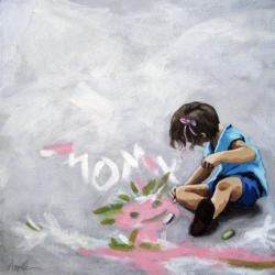 Little Girl Artist of the Future - figurative art