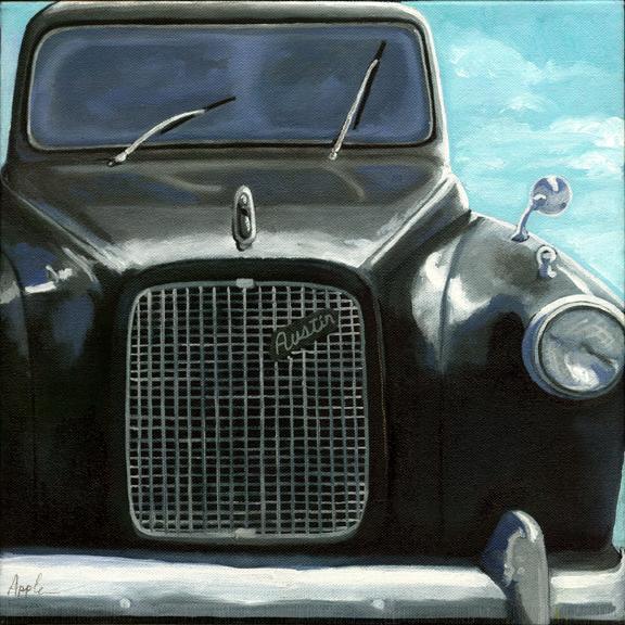 Classic Black Austin Taxi - Vintage Car
