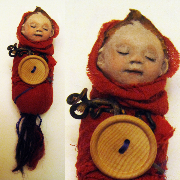 Little Baby Bunting ooak art doll sculpture