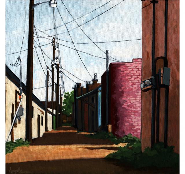 Back Alley- Back Entrance city street alleyway urban art