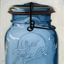 Old Ball Jar - still life oil painting