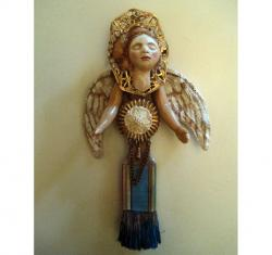 Angel of Creativity mixed media assemblage found object art