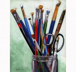 Artists Brushes - still life painting