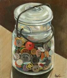 Jar of Antique Buttons