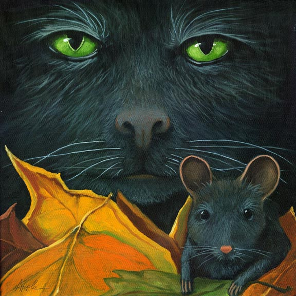 Black Cat & Mouse - friends
