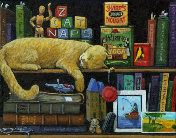Still Life with Cat - CAT NAP