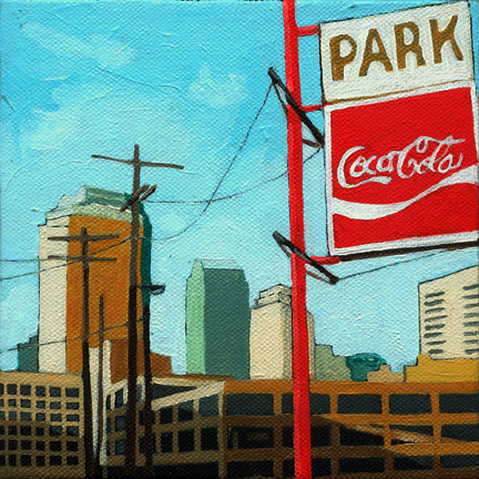 Cityscape Coca Cola Parking skyline
