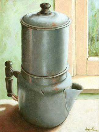 antique metal coffee pot #2