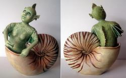 Mystery of the Nautilus - fantasy sculpture