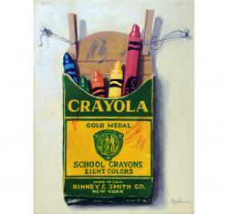 Color Me Happy original of childrens crayons still life