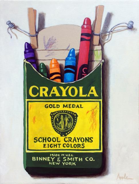 Box of Crayons - realistic still life toys