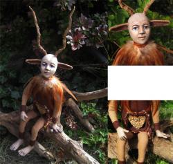 DEER HEART - ooak art doll sculpture woodland fantasy