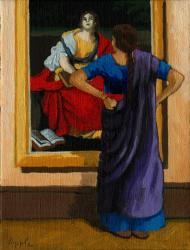 Indian Woman Viewing Art