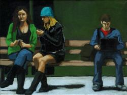 Figurative city painting - Digital Conversations