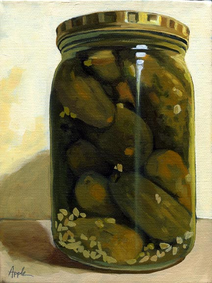 JAR of GARLIC DILL PICKLES