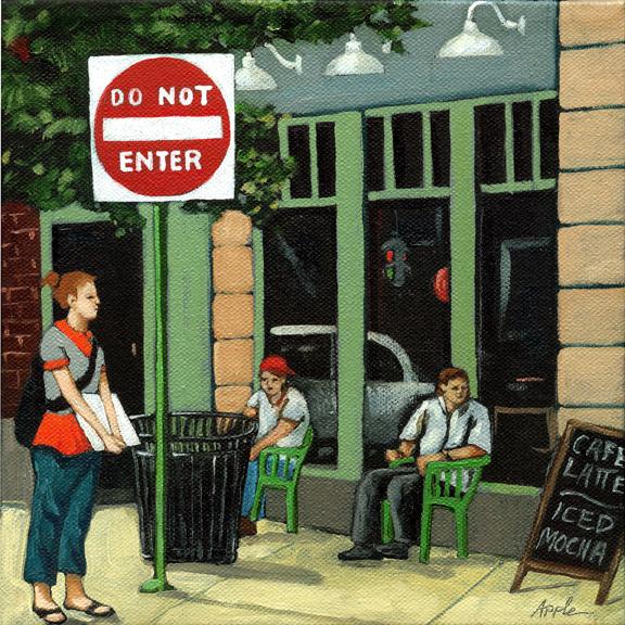 Do Not Enter - cityscape figurative art