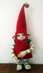 Santa's Elf - Xmas Helper ooak sculpture art doll