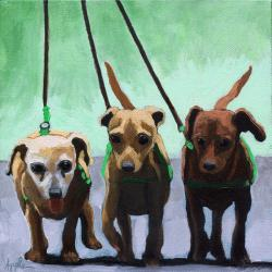 Family of Chihuahuas - animal art