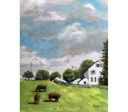 Farm Country - original fine art oil landscape painting