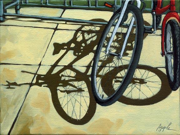 Friendship - bicycle shadows