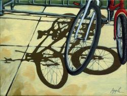 Friendship - bicycle shadows