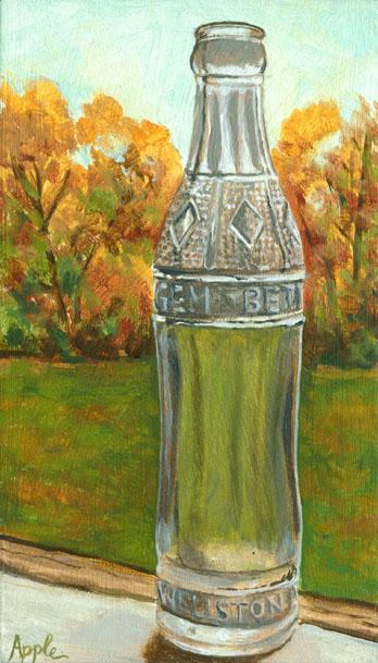 old glass Gem soda bottle