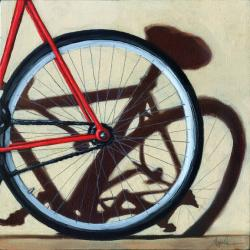Wheel Shadow - bicycle art