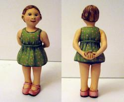 My Favorite Green Dress - ooak art doll sculpture