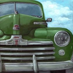 Classic 50's Ford - vintage car painting