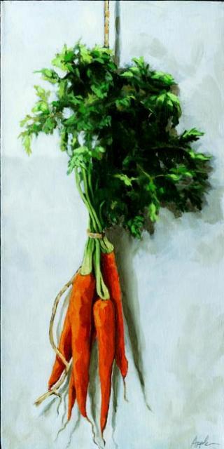 Hanging Around - Carrots still life