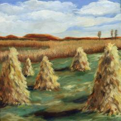 Haystacks - Ohio Country Landscape