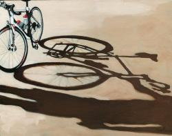 My Precious - bicycle oil painting