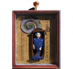 LAKE GENEVA - assemblage,mixed media,collage art