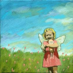 Little Angel - Contemporary Figure oil painting