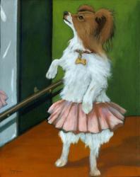 Marley - ballerina dog portrait