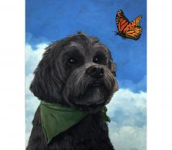 Moses - dog pet portrait