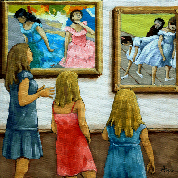 Contemporary Figurative Painting - Ballet Dancers
