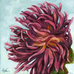 Chrysanthemum floral still life oil painting
