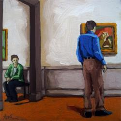 Mutual Interest - figurative oil painting art museum