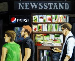 The Newsstand city people figurative art