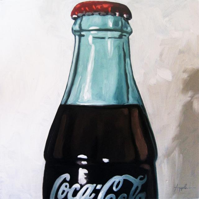 Vintage Coke Cola - realism original oil painting