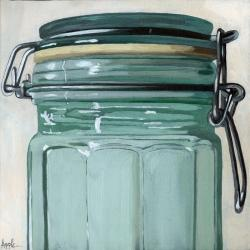 Old Glass Jar - realism still life