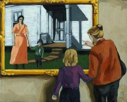 Contemporary Figurative Painting - Viewing the Past