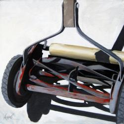 Old Lawn Mower - realistic still life