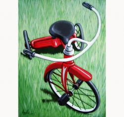 Little Red Tricycle original painting