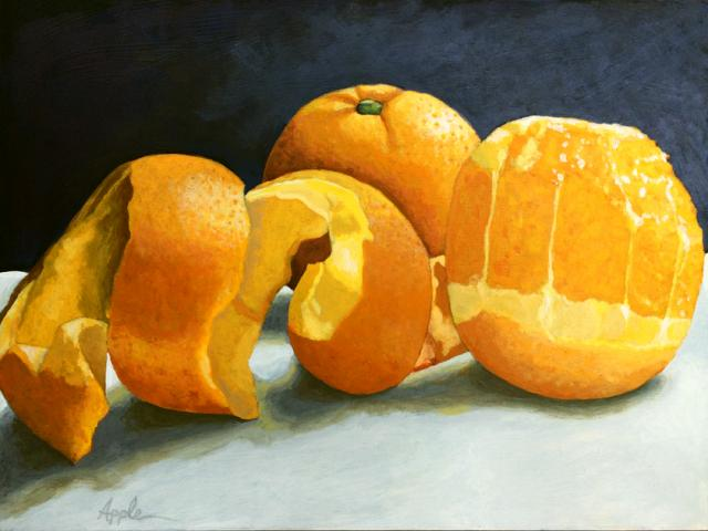 Time for the ORANGE realistic fruit food art